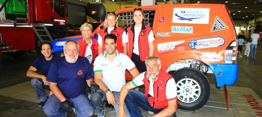 RTeam - RalliArt scelto da uno dei piloti numero uno al Mondo, Nasser Al-Attiyah, per supportare il duo femminile Gilmour-Labuscagne all'Italian Baja 2016