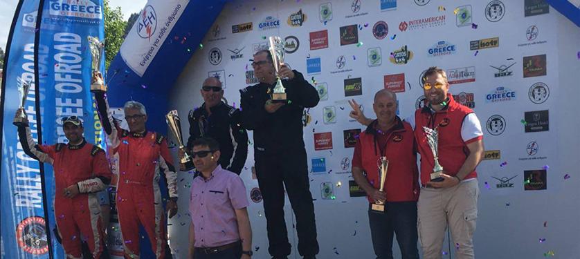 Rteam conquista tutto il podio T2 al Rally Greece Off Road